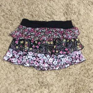 Super Short Flowered Skirt w Layers